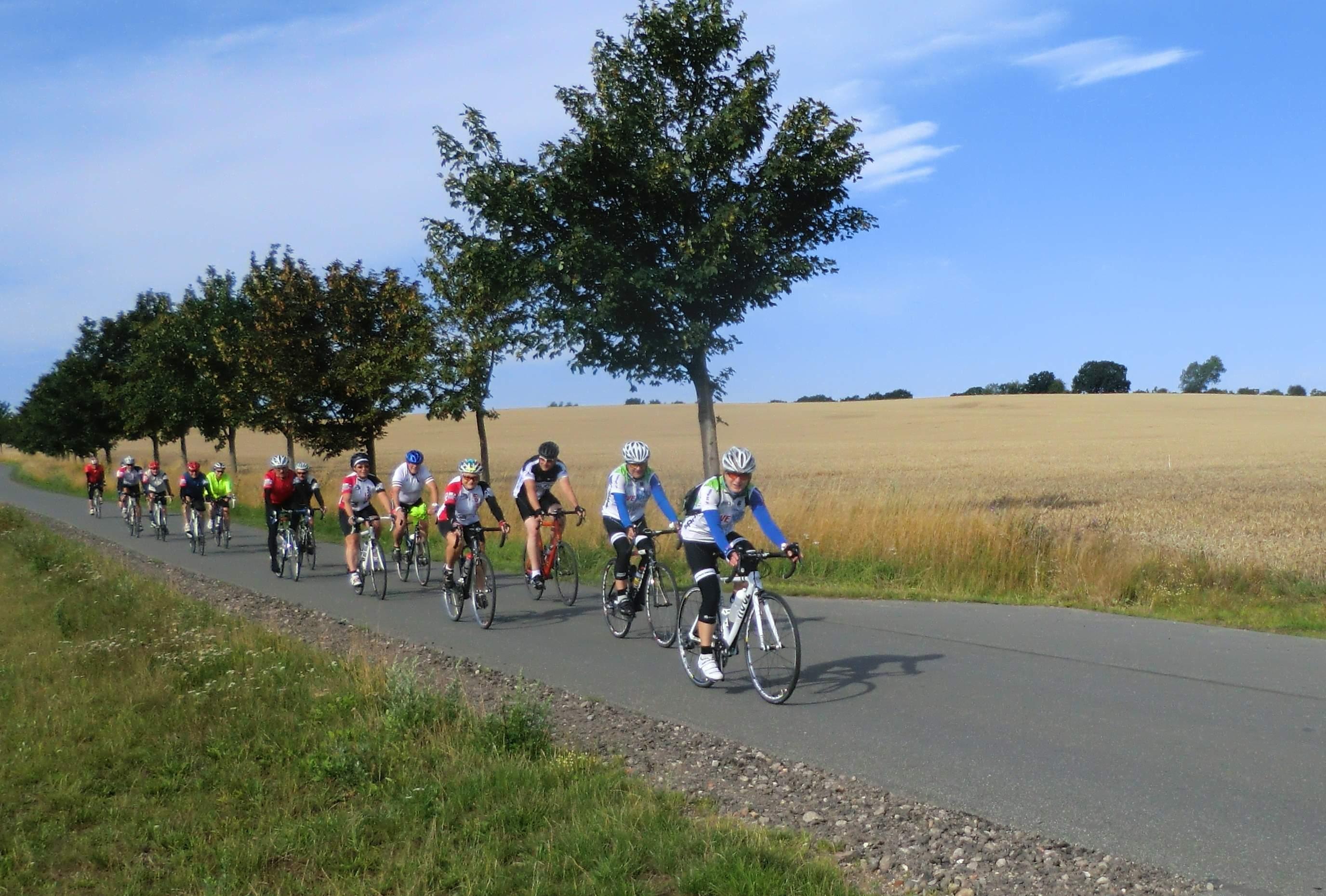 Schwalbe-Gruppe unterwegs durch die Felder