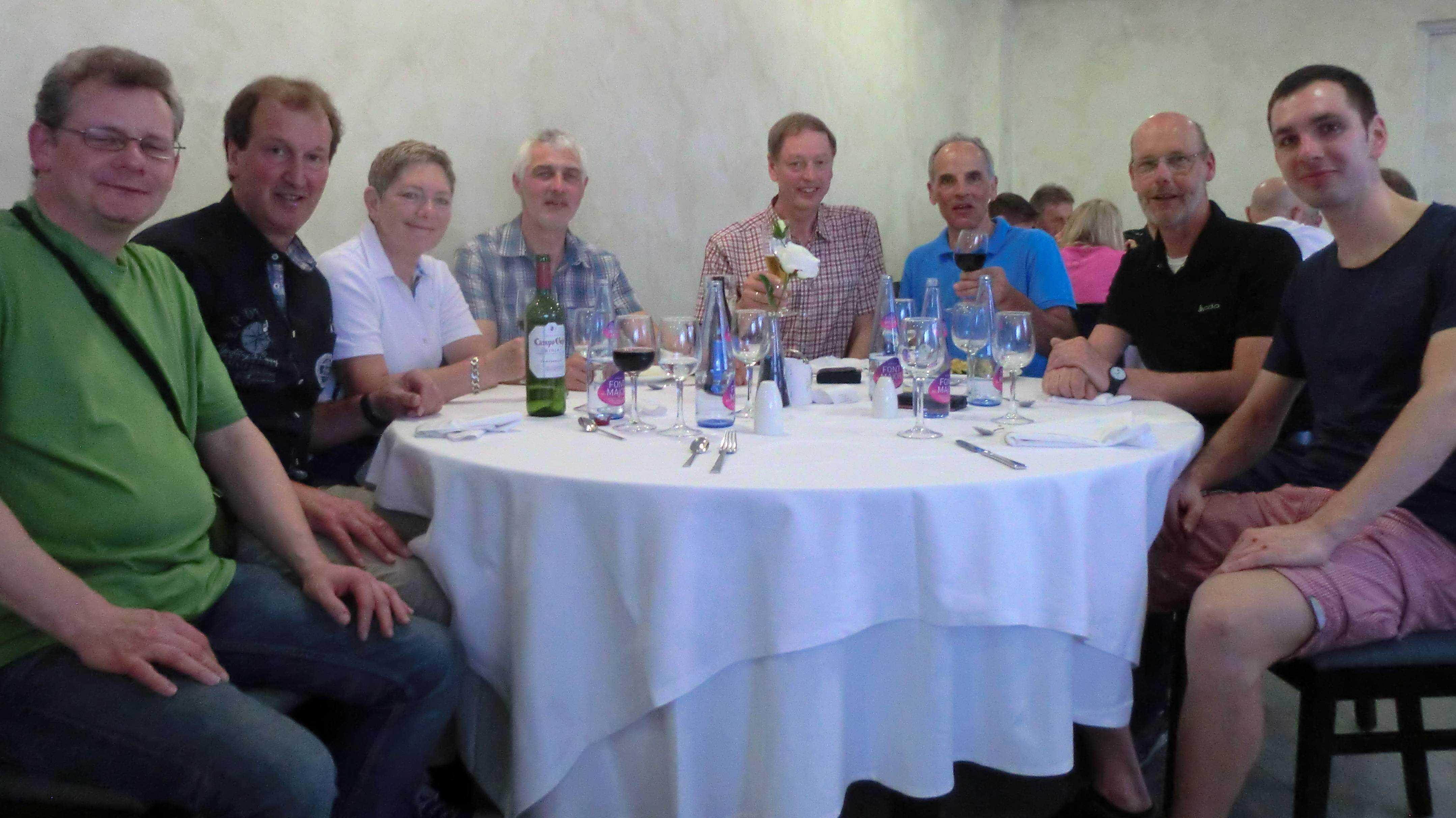 Unsere Gruppe: v.l.n.r. Norbert, Franz Peter, Marianne, Gerardus, Karl-Heinz, Rainer, Peter, Philipp